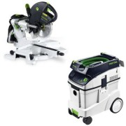 Festool-KS-120-Dual-Compound-Sliding-Miter-Saw-CT-48-E-Dust-Extractor-Package-0